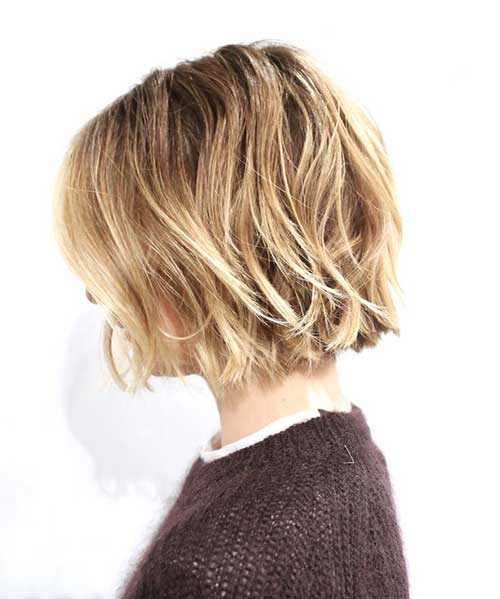 Messy Bob Cut Side View