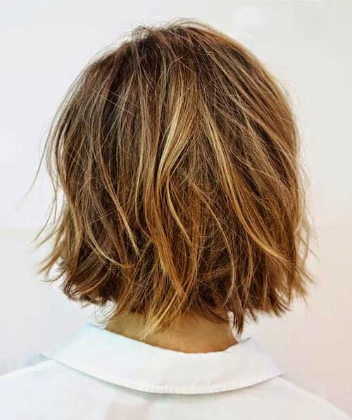 Messy Bob Hairstyle Back