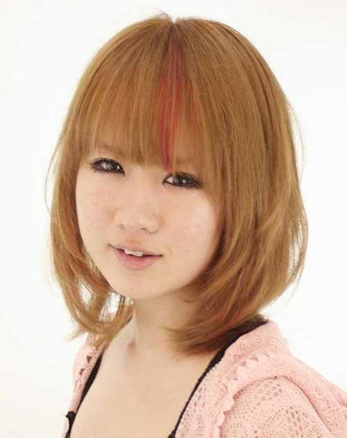 Best Mid Bobs and Bangs for Round Faces 2015