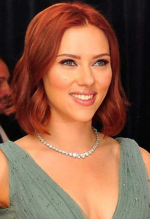 New Red Bobs Cut Styles 2014