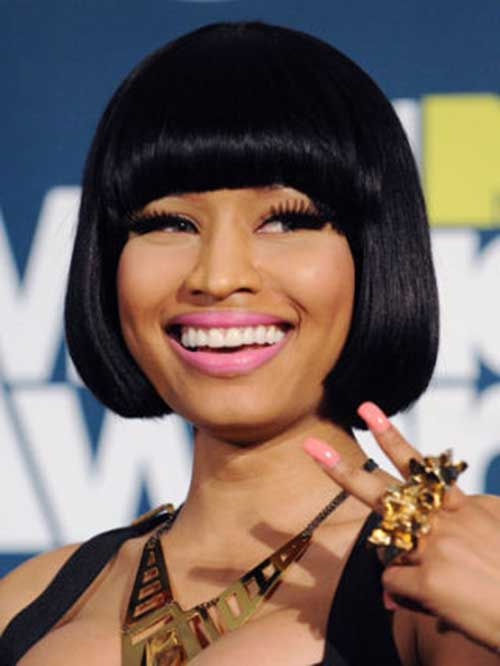 Nicki Minaj Bob with Bangs Ideas