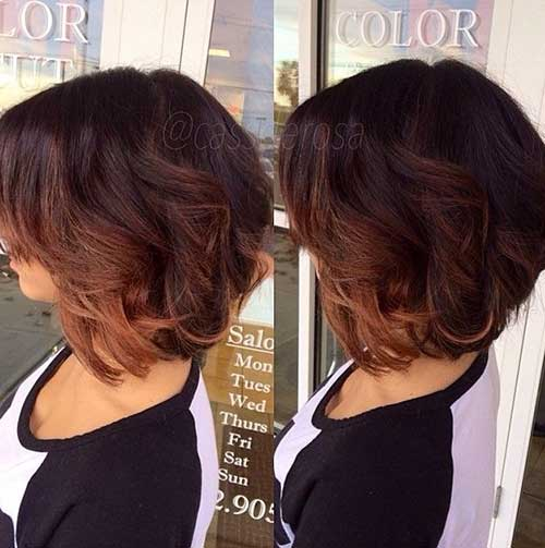 Ombre Aline Bob Haircuts