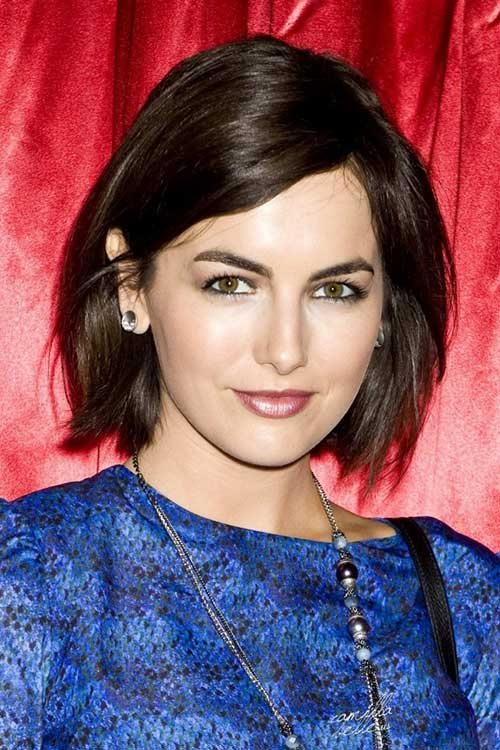 Perfect Straight Side Swept Bob Haircut