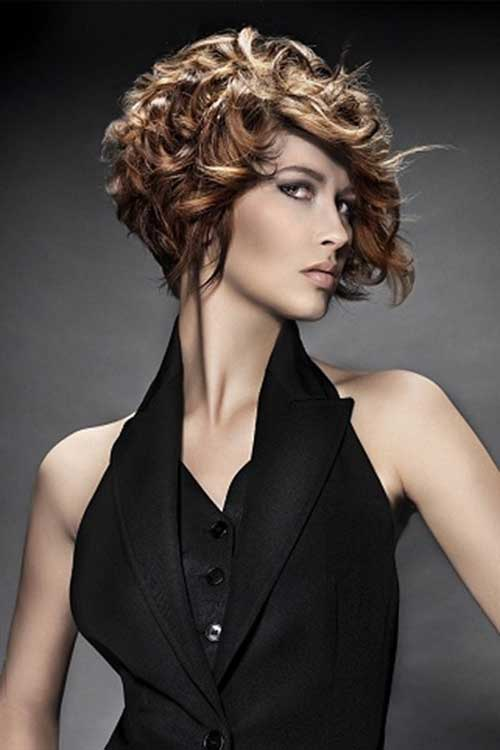 Short Bob Curly Hairstyles for 2014
