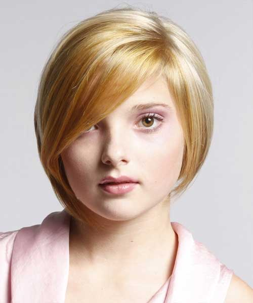 Short Straight Bob Hairstyles 2014 for Round Faces