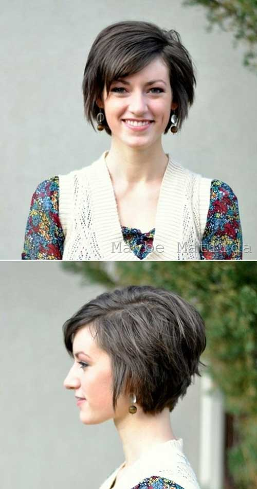 Dark Short Bob Hairstyles for 2014