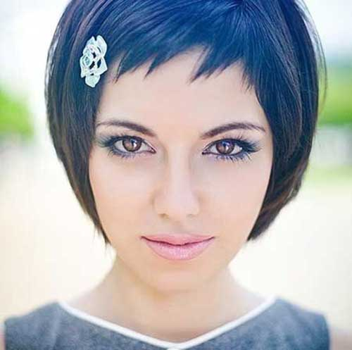 Short Bob and Thin Bangs Hairstyles for 2014