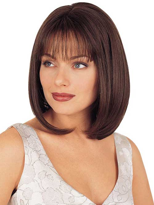 Nice Short Bobs with Bangs for Round Faces 2015