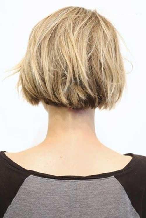 Short Choppy Bob Haircut Back View