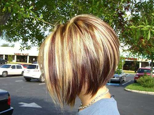 Short Highlighted Bob Hairstyles for 2014
