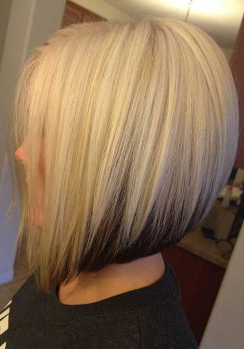 Short Inverted Blonde Bobs Haircuts