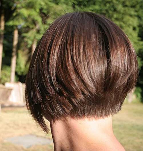 Short Inverted Brown Bob Haircuts