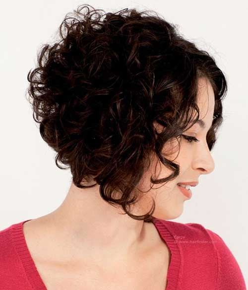 Short Inverted Curly Bob Hairstyles 2015