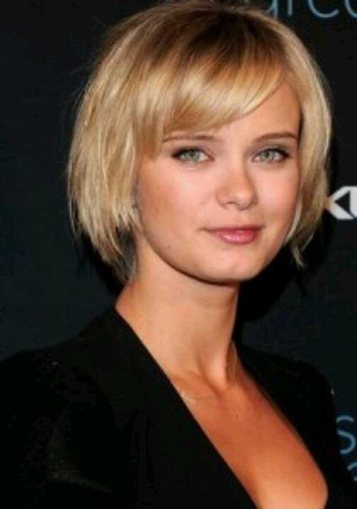 Side Bangs Bobs Cuts for Round Faces 2015
