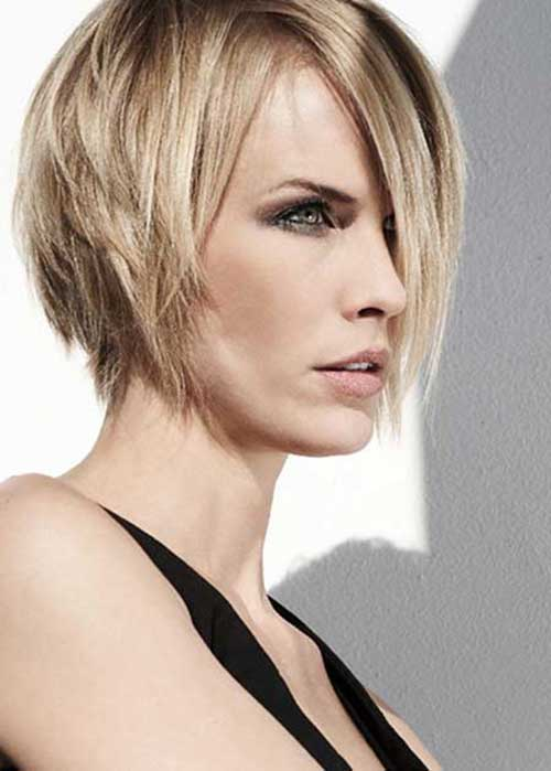 Side Swept Layered Bob Hairstyles 2014-2015