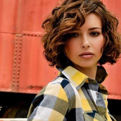 Super Short Curly Bob Layered Hairstyles