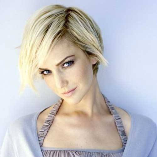 Thin Short Blonde Bob Hairstyles