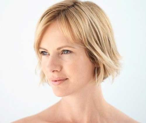 Thin Short Bob Hairstyles