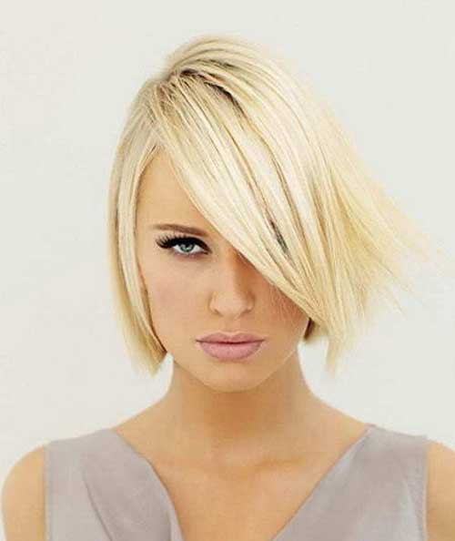 Thin Side Swept Bob Hairstyles Ideas