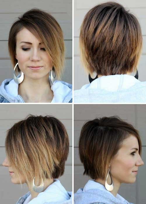 Trendy Short Ombre Bob Hairstyles for 2014