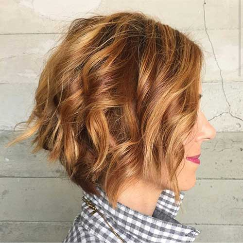 Wavy Haired Ladies Bob Haircuts