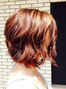 Wavy Layered Bob Hairstyles Side View 2014