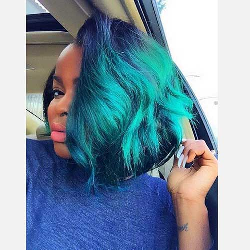 Blue Bobs Styles for Black Women