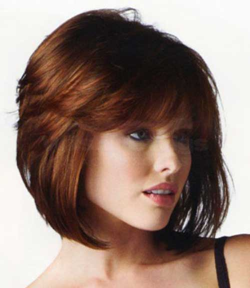 Red Bob Cuts for Round Faces