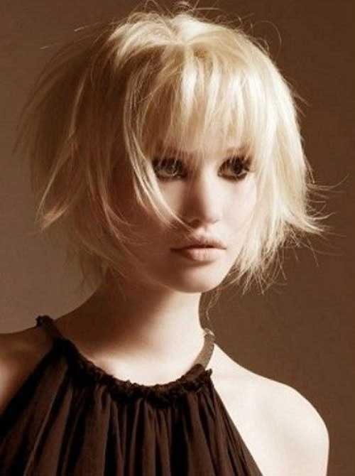 Cool Bob Haircut with Bangs 2015