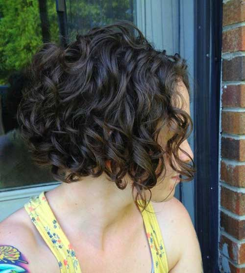 Curled Dark Bob Hairstyle