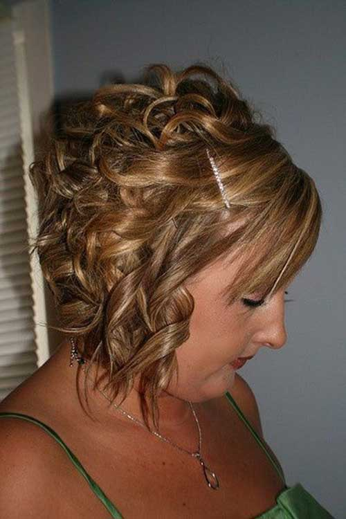 Curled Bob Side View Look