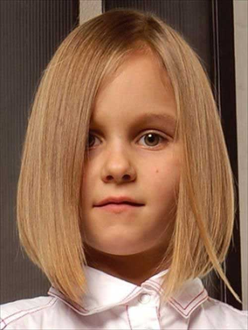 Cute Little Girls Fine Bob Cuts