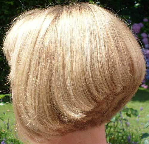 Fine Blonde Hair Stacked Bob Ideas