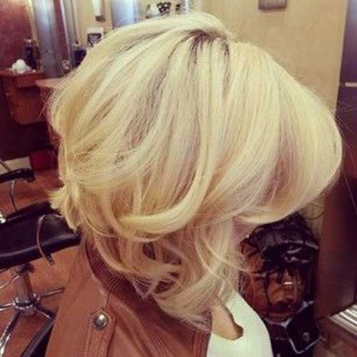 Hair with Curled End Bob Cut