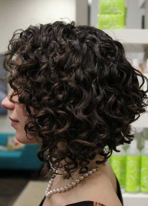 Inverted Curled Bob Hairstyles