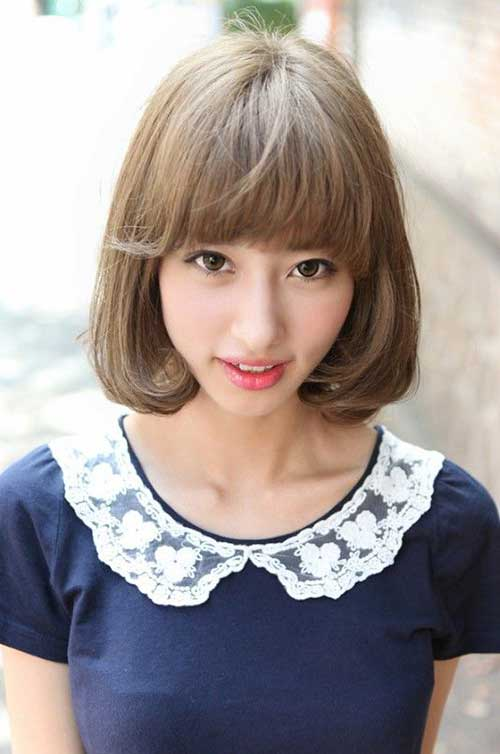 Japanese Bob with Blunt Bangs Ideas