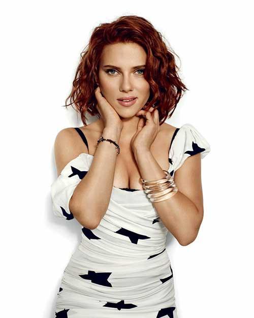 Scarlett Johansson Best Red Bob Cuts