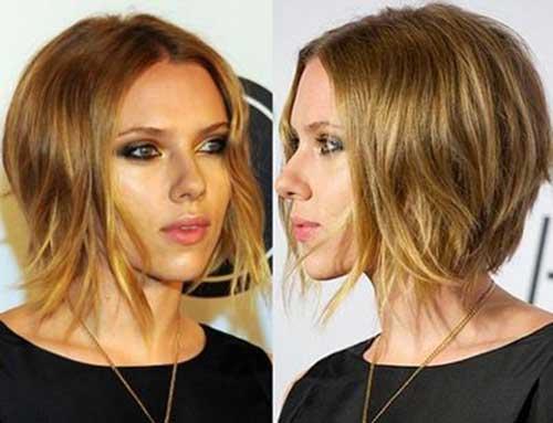 Scarlett Johansson Casual Bob Haircuts