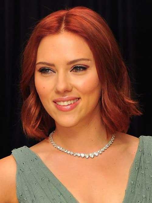 Scarlett Johansson Red Bob Cuts