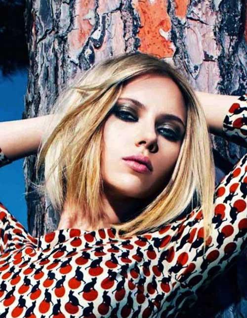 Scarlett Johansson Straight Bob Cuts