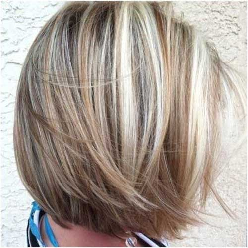 Short Highlighted Bob Haircuts