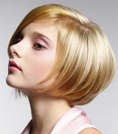 Stacked Blonde Bob Fine Hair
