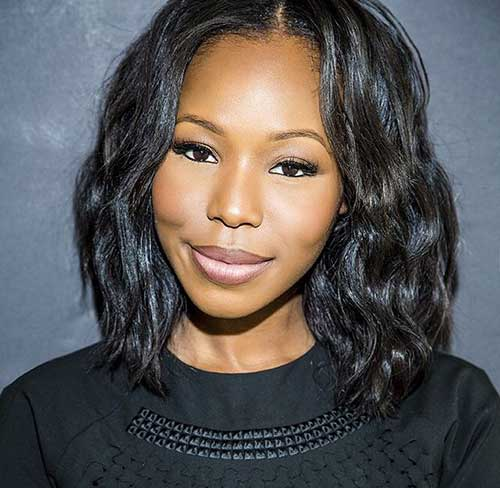 Long Bob Hairstyles for Black Women-10