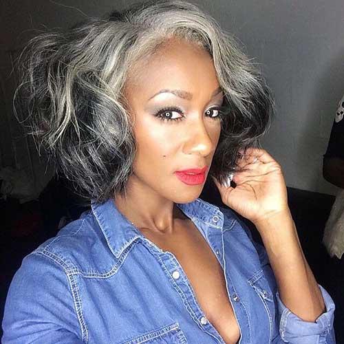 Long Bob Hairstyles for Black Women-12