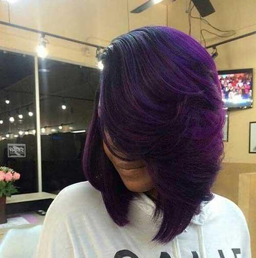 Long Bob Hairstyles for Black Women-13