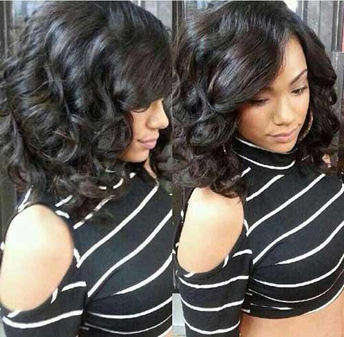 Long Bob Hairstyles for Black Women-15