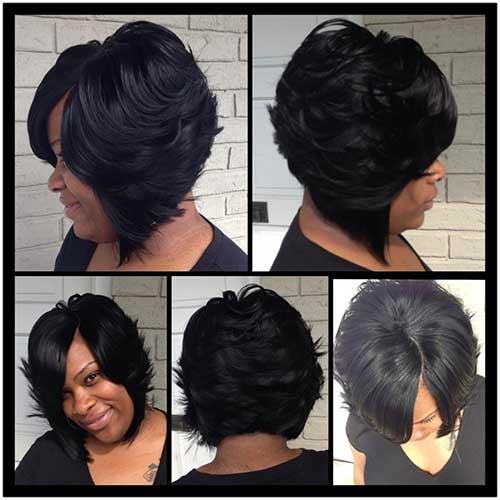 Long Bob Hairstyles for Black Women-18