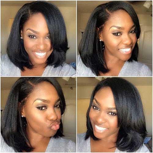 Long Bob Hairstyles for Black Women-19