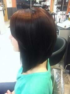 Asymmetrical Style Back of Bob Haircut Ideas