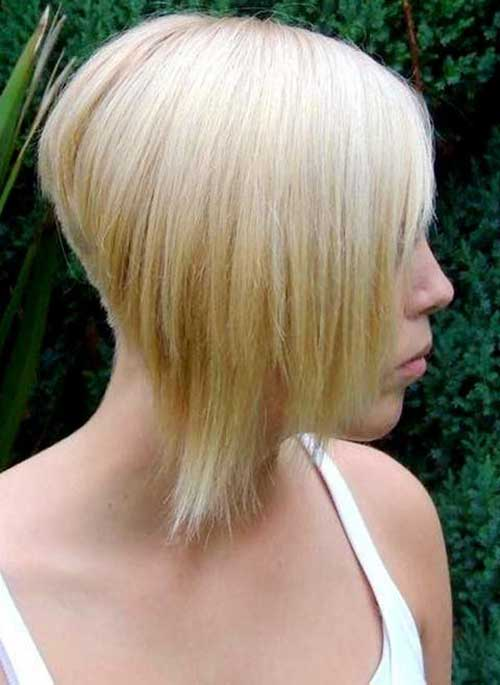 Back View of Short Inverted Bob Cuts